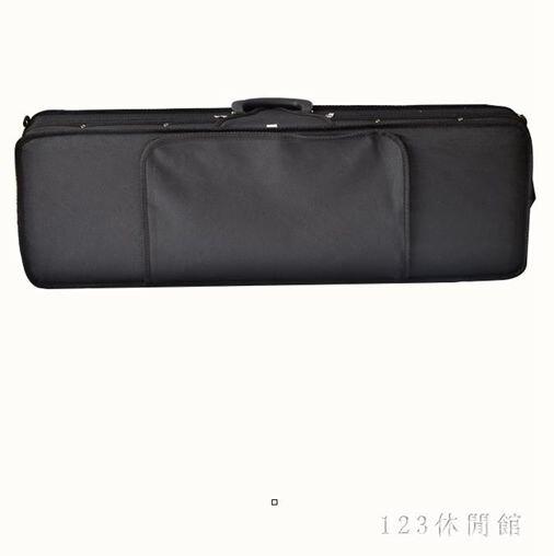 小提琴盒方琴盒子包雙背帶鎖耐用1/8 1/4 1/2 3/4 4/4輕便 DR25368
