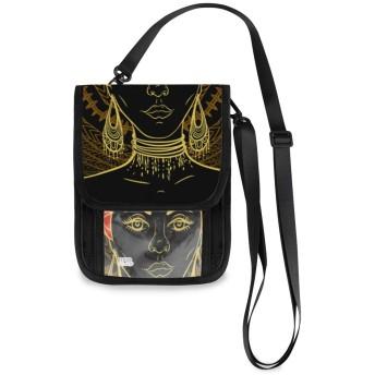 ショルダーバック 美しい アフリカ女性 斜め掛けバッグ 肩掛け スマホポーチ ポシェット 女性用ポーチ 携帯ウォレット 旅行 レディース 軽量携帯ポーチ カバン 携帯電話の財布 パスポートバッグ かわいい 縦型