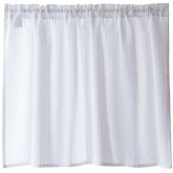 Sunny day fabric カフェカーテン シルヴァ ホワイト 遮像 断熱 UVカット ラメ (幅100×丈70cm)