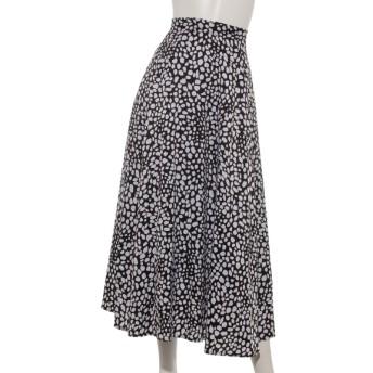 50%OFF Doux archives (ドゥアルシーヴ) 単色レオパードスカート BLACK