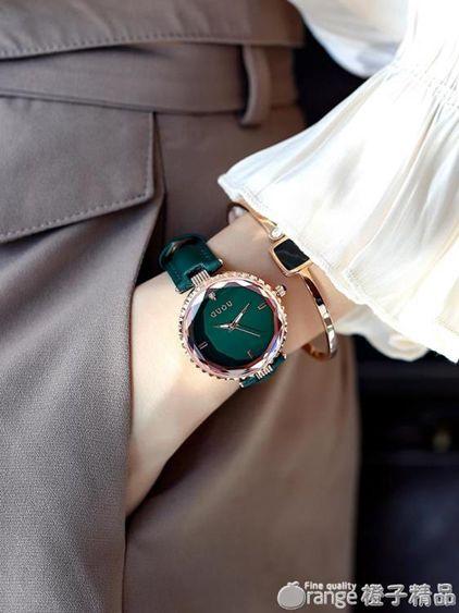 GUOU手錶女時尚潮流防水簡約個性抖音網紅INS風新款女士手錶