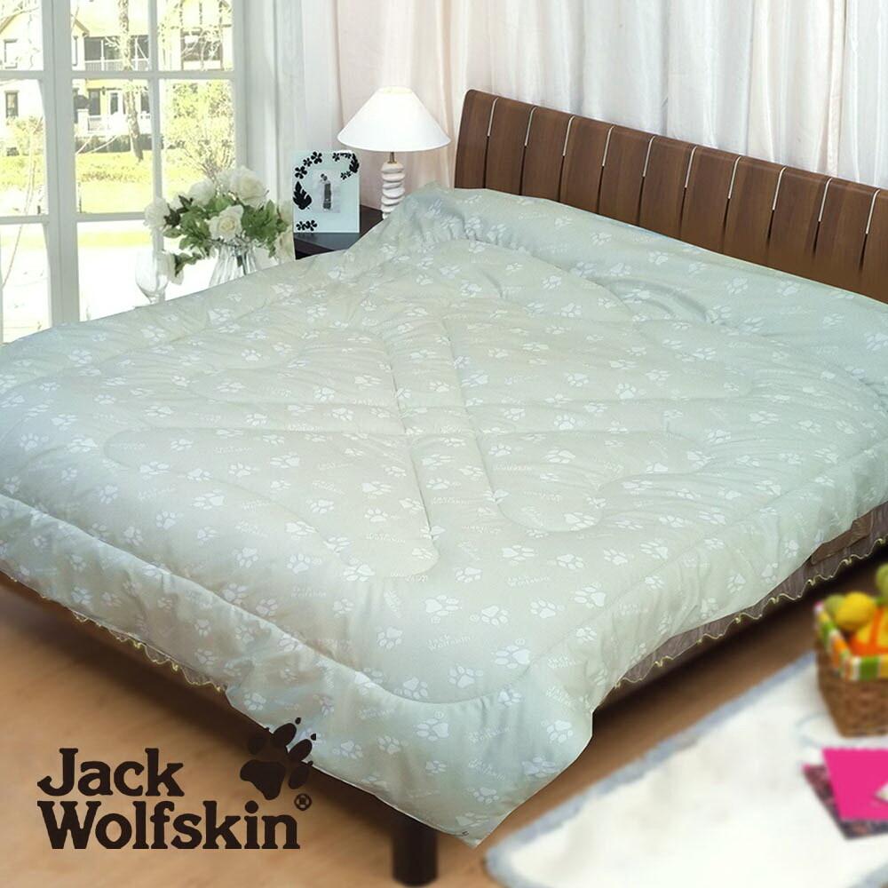 jack wolfskin 專利銀離子抗菌發熱雙人被胎(銀綠) 6x7尺
