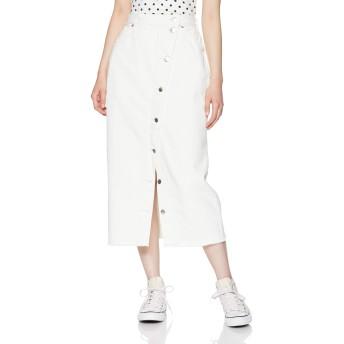 [リー] スカート BLACK AND WHITE BUTTON SLIT SKIRT レディース ホワイト 日本 XS (日本サイズXS相当)