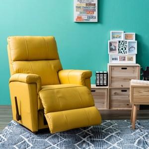 La-Z-Boy 搖椅式休閒椅 10T360 半牛皮 芥末黃色