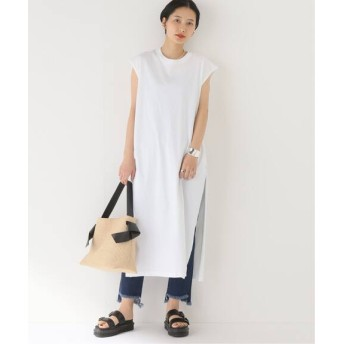 BOICE FROM BAYCREW'S 【bunt】SLIT SLIT SLEEVELESS ONEPIECE TEE ホワイト 1