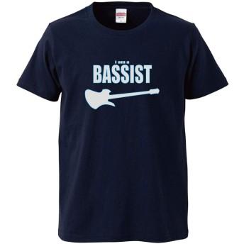 【IdentiT】 the BASSIST Tシャツ モッキンバードベース MB (L, ネイビー)