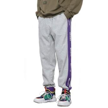 Changeジョガーパンツ スウェットパンツ おしゃれ ズボン ストリート 大きいサイズ 【灰,M】