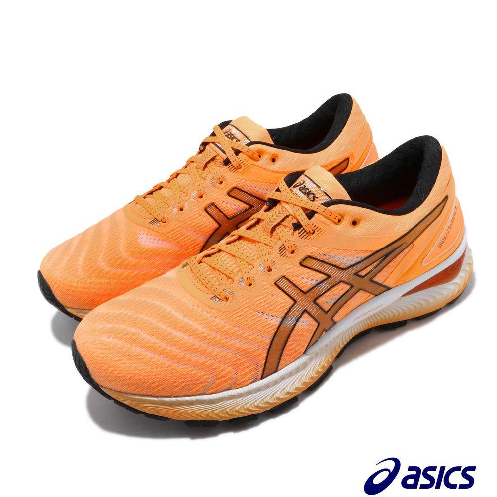 ASICS 慢跑鞋 Gel-Nimbus 22 摩登東京 男鞋 亞瑟士 高緩衝 回彈 輕量 亞瑟膠 橘 黑 [1011A781801]
