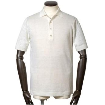 サンモリッツ S.MORITZ / 20SS!リネンハイゲージ半袖ニットポロシャツ「X38698」(ホワイト)/ 春夏 半袖 メンズ イタリア ビジネ