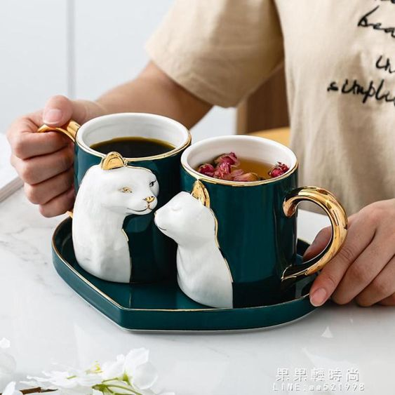 馬克杯情侶杯子陶瓷杯馬克杯情侶對杯創意杯子咖啡杯生日禮物禮品
