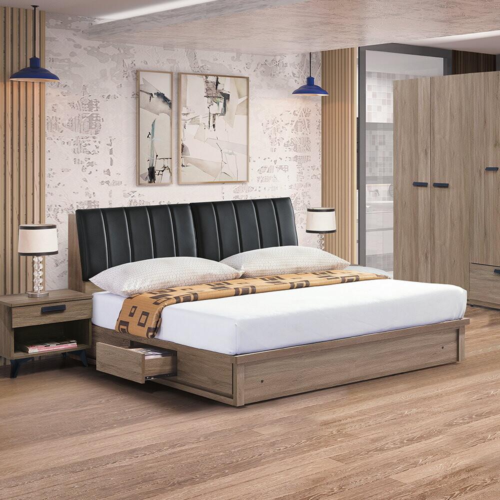 muna 亞力士5尺床架(床頭箱+床底)(不含床頭櫃)