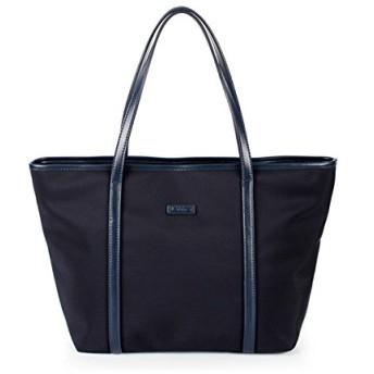 YoungMax トートバッグ レディース プレゼント ハンドバッグ 8色選択可 大容量 A4サイズ対応 通勤 通学 ビジネス (normal size, ネイビ)