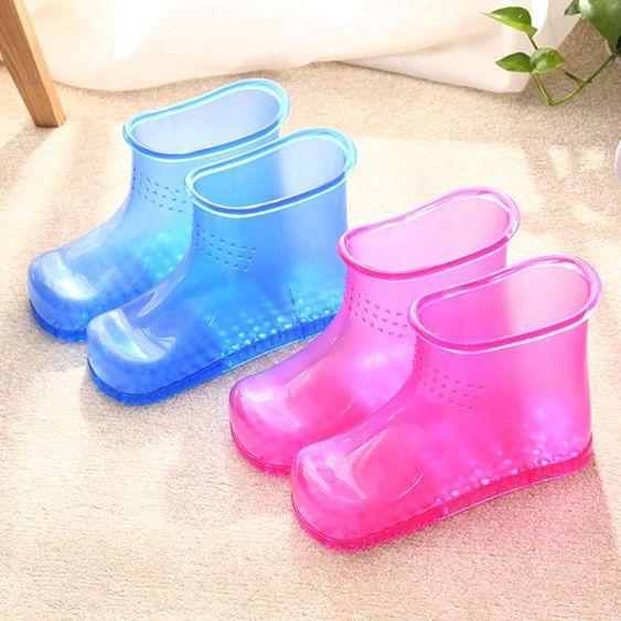 高筒泡腳桶足浴桶足浴盆塑料洗腳盆家用足浴鞋泡腳鞋220V