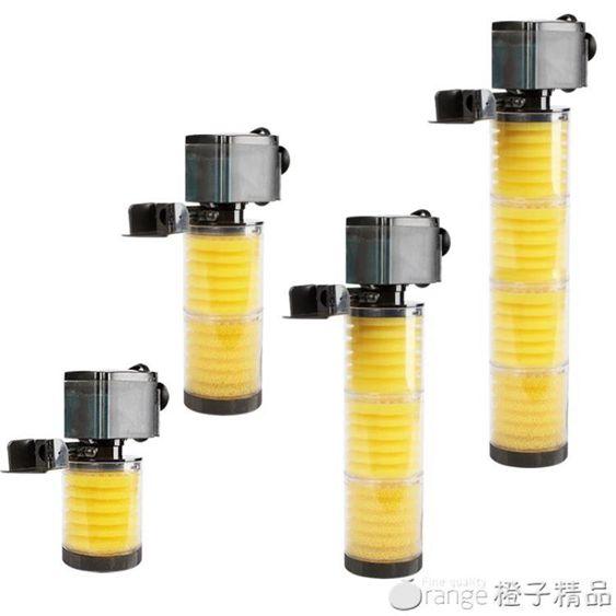 鬆寶魚缸過濾器靜音三合一內置潛水泵過濾設備水族箱過濾器增氧泵