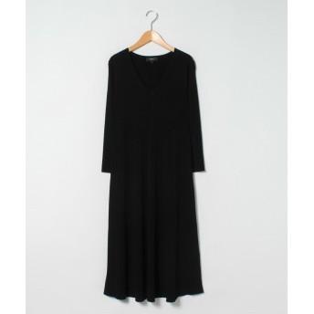 【30%OFF】 セオリー ドレス CREPE KNIT RIB LONG DRESS レディース ブラック S 【Theory】 【セール開催中】