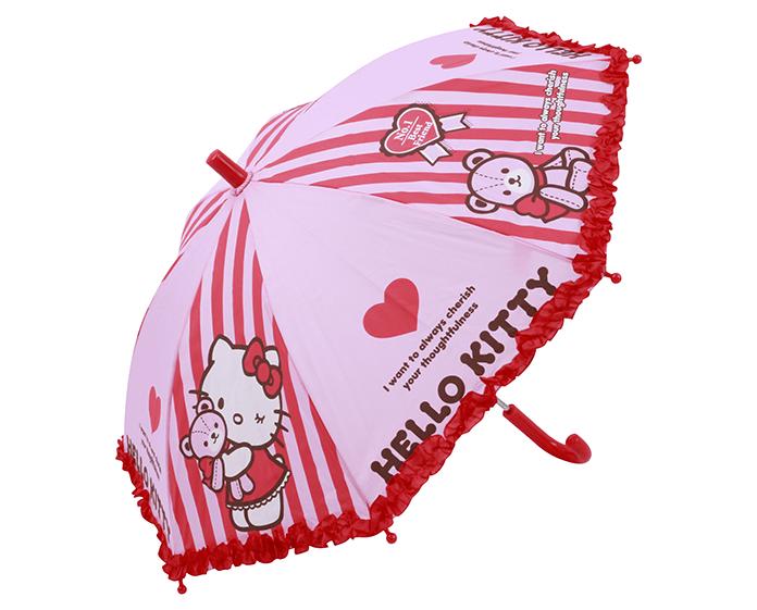 hello kitty接片條紋-童傘