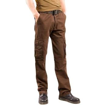 YUNCLOS カーゴパンツ メンズ 作業ズボン ズボン 作業着 イージーパンツ パンツ ロングパンツ ミリタリー 綿 ツイル ワーク カジュアル