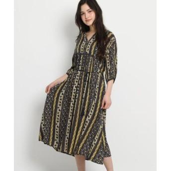 Dessin/デッサン インドパネル柄ドレス ネイビー(193) 01(S)
