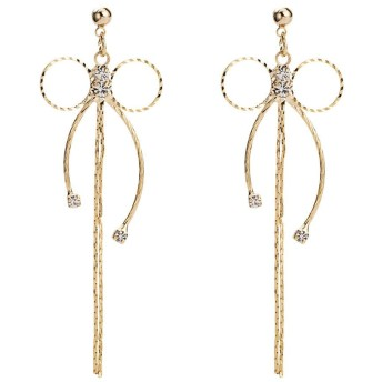 LKJASDHL タッセルイヤリング女性のためのスタッドピアスイヤリング女性のギフトメッキシルバー女性のための女の子女の子真珠のイヤリング付き (色 : Silver)