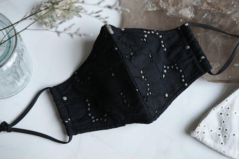 【防護專區】100%銀纖維・棉布刺繡・抗菌立體布口罩・台灣製