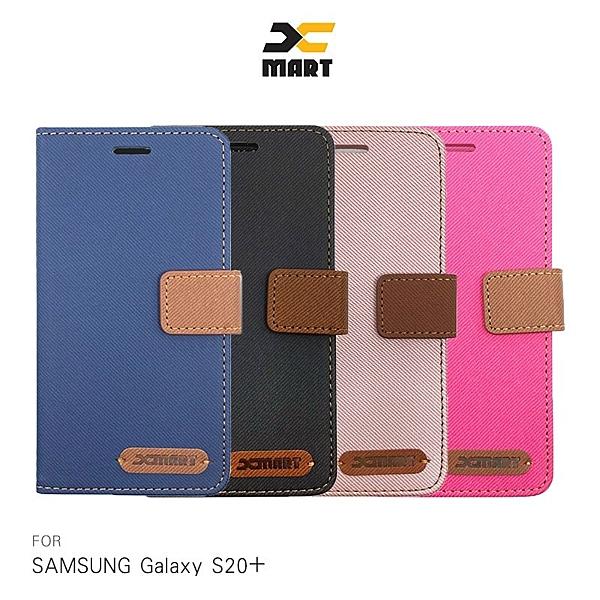 XMART SAMSUNG Galaxy S20、S20 Ultra、S20+ 斜紋休閒皮套 掀蓋 可立 插卡 磁扣