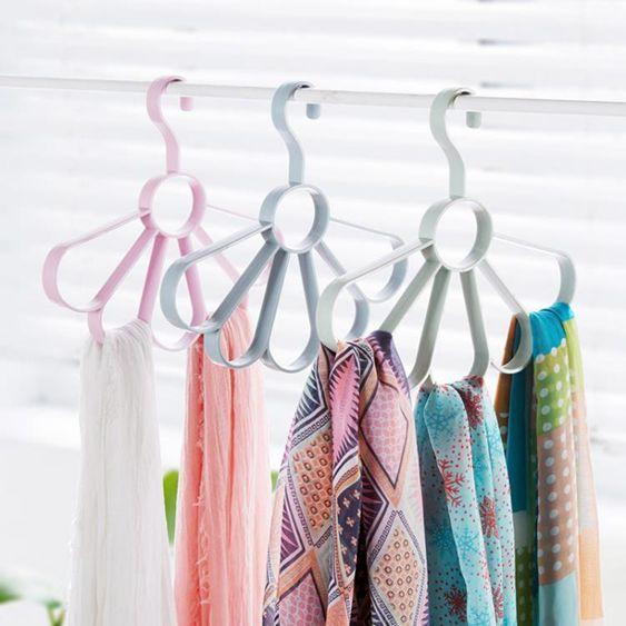 3個裝圈圈圍巾架腰帶收納掛架領帶架圍巾架子衣架收納架絲巾架