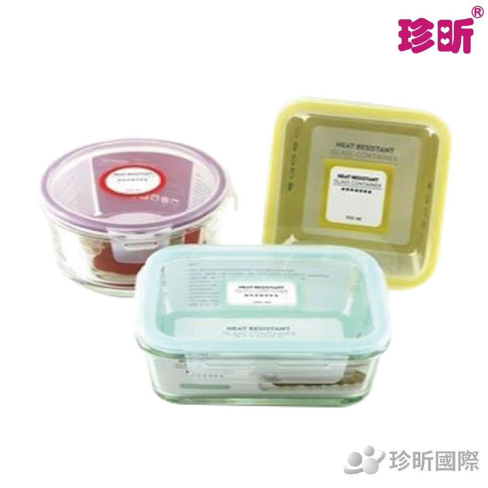 免運【珍昕】台灣製 耐熱玻璃保鮮盒系列~3種款式(長型900ml/方型950ml/圓型900ml) / 玻璃保鮮盒/保鮮盒