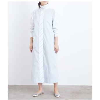 ADAM ET ROPE'/アダム エ ロペ 【GANNI】SHIRTING COTTON DRESS サックス(48) 1