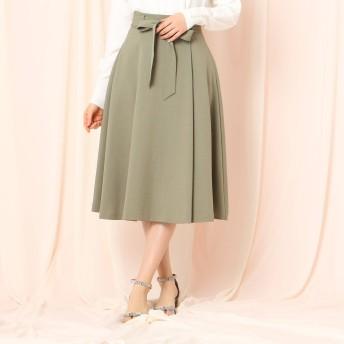 Couture Brooch(クチュールブローチ)/ベルテッドフレアミモレスカート
