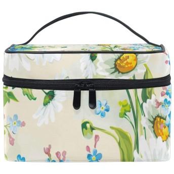ひまわりの葉化粧品袋オーガナイザージッパー化粧バッグポーチトイレタリーケースガールレディース