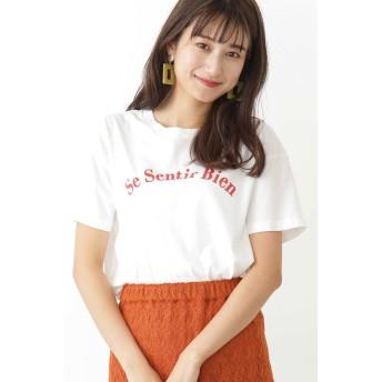 エヌ(エヌ ナチュラルビューティーベーシック) N. Natural Beauty Basic プリントTシャツ シロ×アカプリント M【税込10,800円以上購入で送料無料】