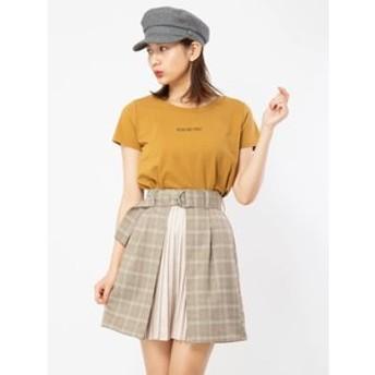 【CECIL McBEE:スカート】フロントプリーツデザインスカート