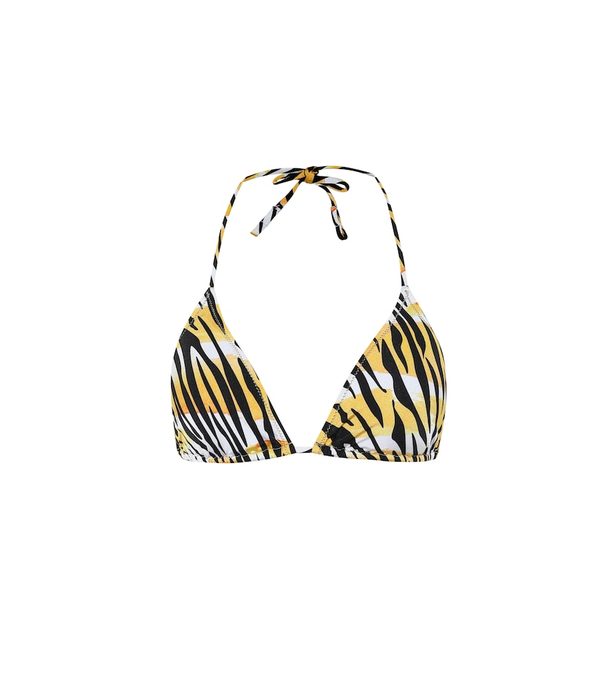 Love tiger-print bikini top