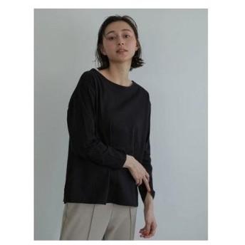 アースミュージックアンドエコロジー earth music&ecology バックアイレット刺繍プルオーバー (Black)