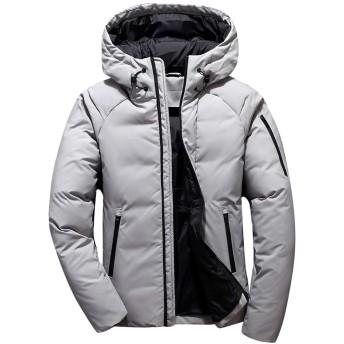 Hanyam メンズ ダウンコート ダウンジャケット フード付き 秋冬コート 分厚い アウターコート 暖かい 防寒コート おしゃれ ファッション 厚手
