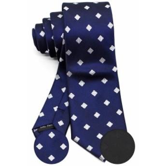 ナロータイ スキニータイ スリムタイ 細 ネクタイ 6cm 幅 洗濯可能 ダイヤ 刺繍 模様 菱形 WANDM