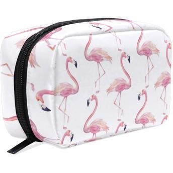 UOOYA おしゃれ 化粧ポーチ かわいい フラミンゴ Flamingo 軽量 持ち歩き メイクポーチ 人気 小物入れ 収納バッグ 通学 通勤 旅行用 プレゼント用