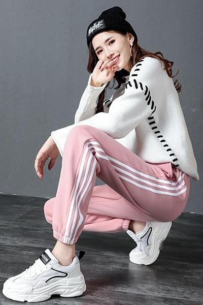 運動褲 束腳春秋薄款新款顯瘦韓版學生休閒褲 淇朵市集