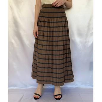 Loungedress(ラウンジドレス) レディース ボーダーリバーシブルスカート ブラウン
