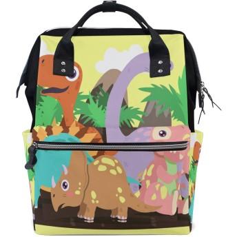 おむつバッグかわいい野生の恐竜おむつ バッグ バックパック ママバッグ カジュアル 軽量 大容量 トラベル マミー用