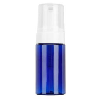 ムースの空のボトル、旅行の空のボトルポータブルムースの発泡空のボトル詰め替え可能な旅行ディスペンサーコンテナー(ブラシヘッド 青)