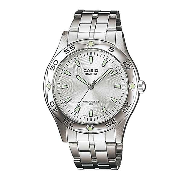 CASIO 卡西歐 夜光遊俠指針不鏽鋼錶 白面 MTP-1243D-7A