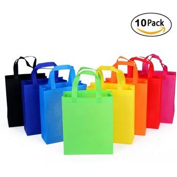 再利用可能なハンドルGrocery Tote Bag Large 10パックマルチColored