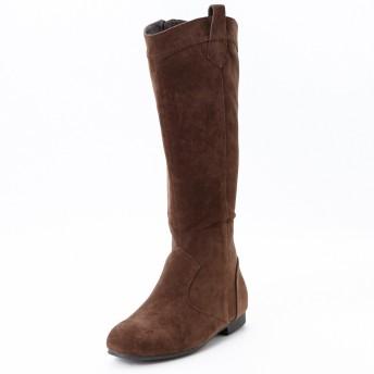 ACQUA CALDA [アクアカルダ] シンプル ロング ブーツ カラー ブラウン サイズ 3L [大きいサイズ] 26.0cm ~ 26.5cm ワイズ 4E 履き口 46cm 筒丈 38cm