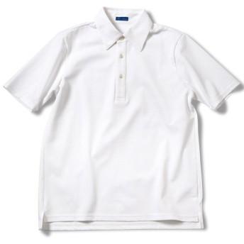 [リングヂャケットxJALショッピング]レギュラーカラー台襟付きポロシャツ ホワイト XL