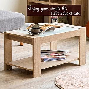 《Friends》日式高質感玻璃鏡面咖啡茶几桌