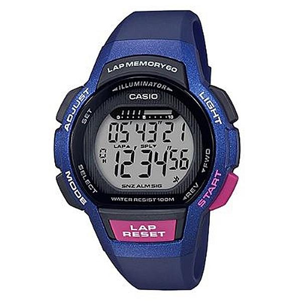 CASIO 卡西歐 新潮流運動女錶 藍X螢光粉 LWS-1000H-2A