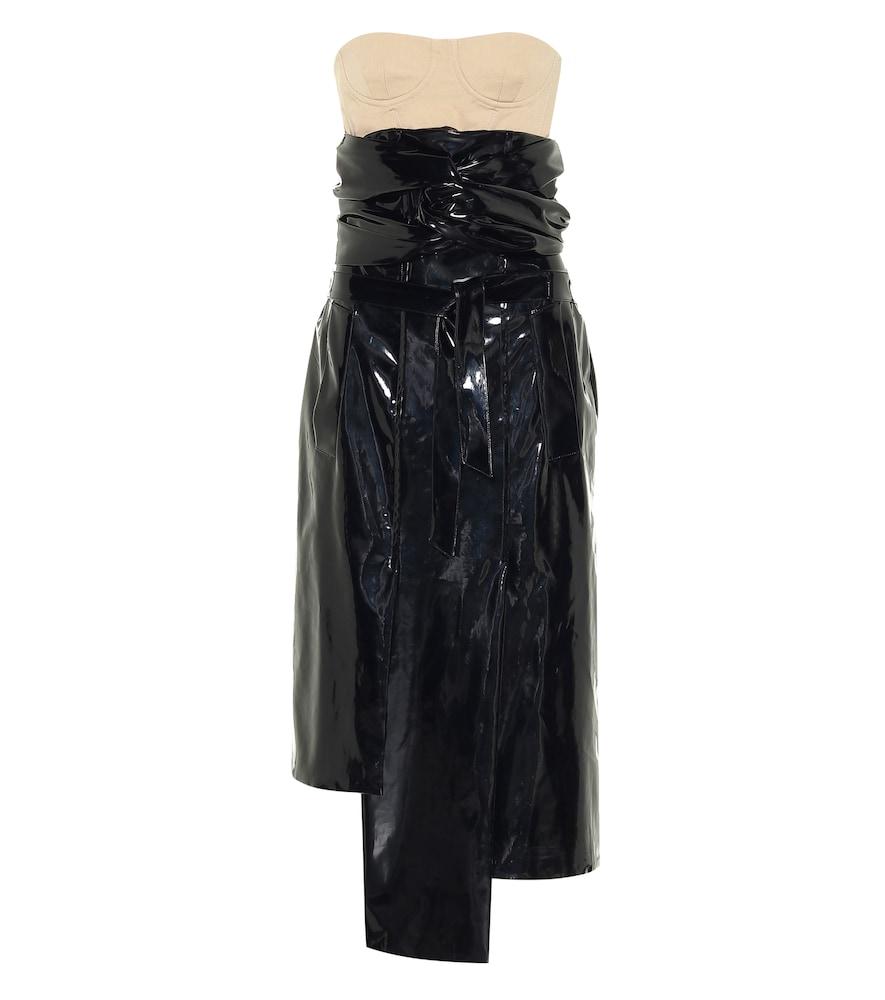 PVC bustier midi dress
