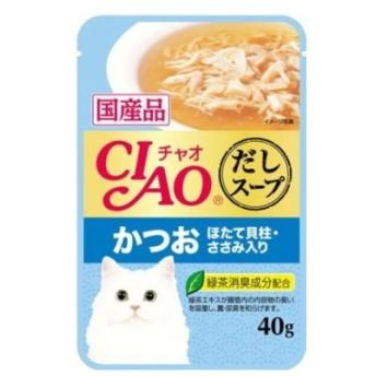 【いなばペット】チャオ だしスープ かつお ほたて貝柱・ささみ入り 40g