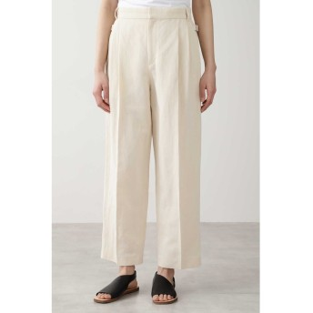 ◆≪Japan couture≫綿麻ギャバパンツ エクリュ1